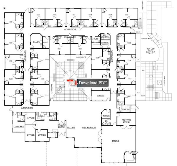 Carrington court assisted living memory care facility for Floor plans health care facilities